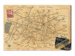 1956 Metro Map of Paris (4 Sizes)