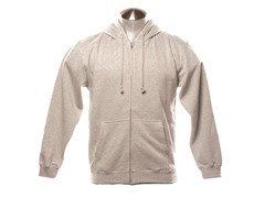Full Zip-Up Hoodie - Grey