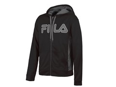 Fila Men's Competition Full Zip Hoody - Black/Grey/White