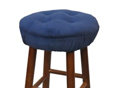 "Gripper® 14"" Barstool Covers-Pinwale-Navy S/2"