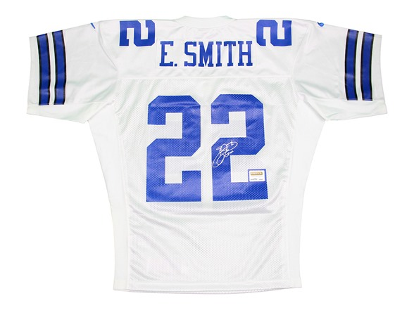newest 4d06b 1edf9 Emmitt Smith Signed White Cowboys Jersey