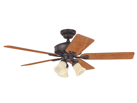 Hunter Ceiling Fan with Light, Walnut