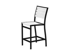 Euro Counter Chair, Black/White