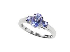 3-Stone Tanzanite Ring