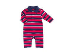Red Yarn Dye Stripe Coverall (0-3M)