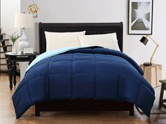 Reversible Comforter-Navy-2 sizes