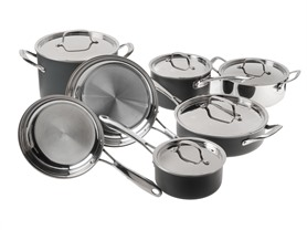 12-Pc Cuisinart Stainless Cookware Set