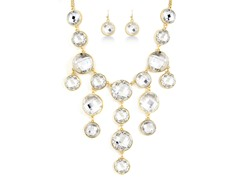 Gold-Plated White Fancy Jewelry Set