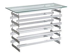 Hoxley Chrome & Glass Console Table
