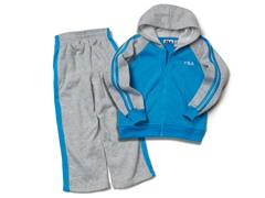 Boys Gray/Blue Fleece Set