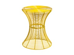 Round Metal Accent Table - Yellow