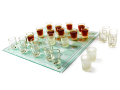 Checkers Shot Glass Game Set