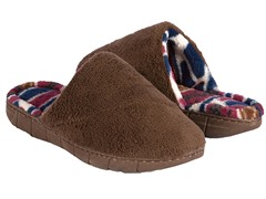 Petal Spiral Scuff Slipper, Brown