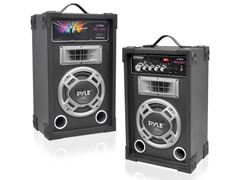 Pyle 800W Disco Jam Powered Two-Way PA (Pair)