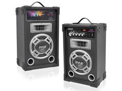 Pyle 800W Disco Jam Powered Two-Way PA (Pair)