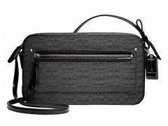 Poppy SigC Mini Oxford Flight Bag, Silver/Black