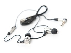 Overkill In-Ear Earphones w/Inline Mic -Silver