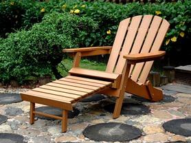 Merry Garden Faux Wood Folding Adirondack Chair