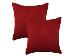Passion Suede Cinnabar 17x17 Pillows-S/2