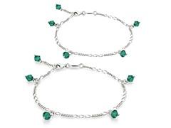 Emerald Bracelet & Anklet Set
