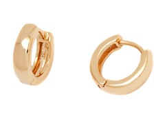 18k Plated Huggie Earrings