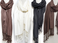 4-Pack Satin Finish Scarves