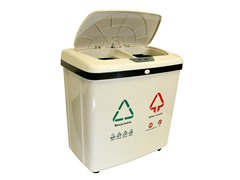 16 Gallon Dual Compartment Recycle Can