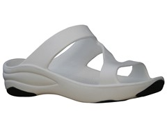 Women's Premium Z Sandal, White / Black