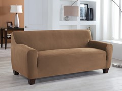 Sofa- 1 Piece Stretch Fit Slipcover- Multiple Colors