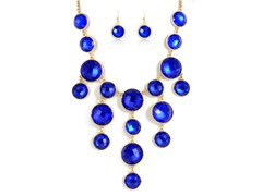 Gold-Plated Blue Sapphire Fancy Jewelry