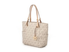 Michael Kors Jet Set E/W Signature Tote, White