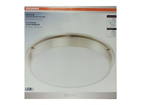 LED Indoor Ceiling Mounted Fixture, Brushed Nickel