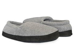 Men's Fleece Espadrille, Charcoal