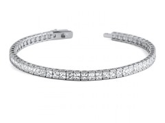 10CTTW Princess Cut Simulated Diamond Tennis Bracelet
