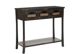 Autumn 3 Drawer Console - Black