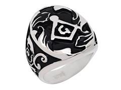 SS 2-Tone Masonic Ring