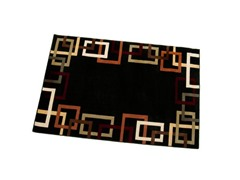 "Syntax 7'9"" x 9'9"" Area Rug - Black"