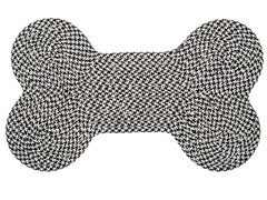 Black Dog Bone Houndstooth Rug - 3 Sizes