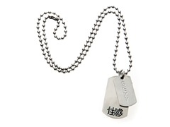 Stainless Steel Dog Tag w/ Sexy Symbol Chinese Characters