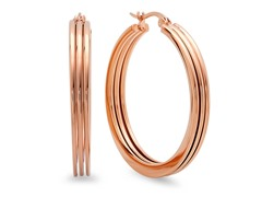 18 kt Rose Gold Plated 30mm Hoop Earring