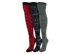 "MUK LUKS® Women's ""Classic"" 3 Pr-Pk Over the Knee Sock"