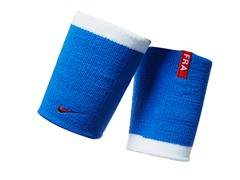 Doublewide Wristbands - Blue/White/Red