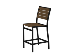 Euro Counter Chair, Black/Teak