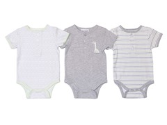 Grey Geo-Giraffe Bodysuit 3-Pack (0-9M)