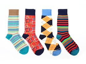 Patterned Socks 4-Pack