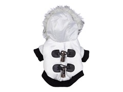 Winter White Fashion Parka with Hood