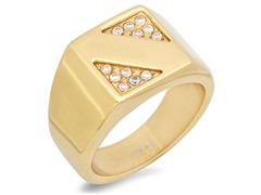 Men's 18kt Plated Ring w/ Accents