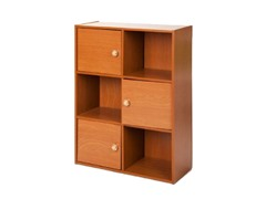 Pasir 3-Tier Shelf 3 Door w/Handles  Lt Cherry