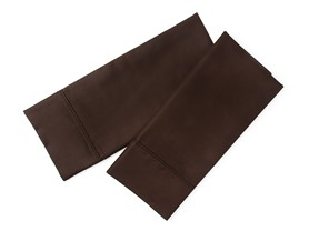800TC Standard Pillowcase Set - Chocolate