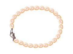 Peach Rice Pearl Bracelet
